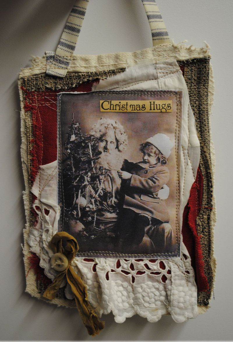 Gift holder, Christmas hugs 2