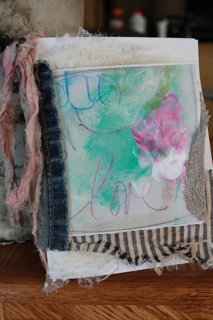 Love mini journal side view