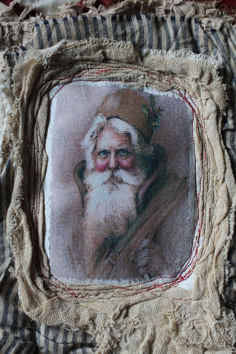 Santa journal wrap close up