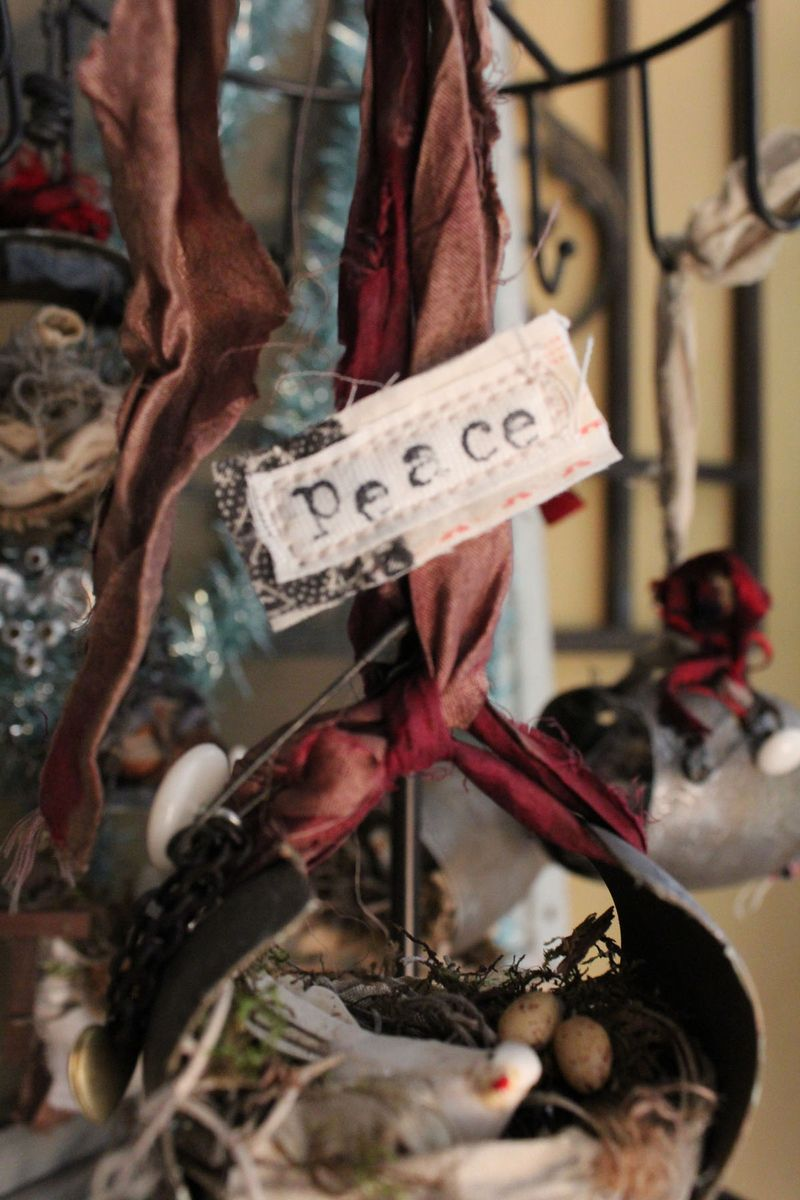 Peace dove ornament close up 2