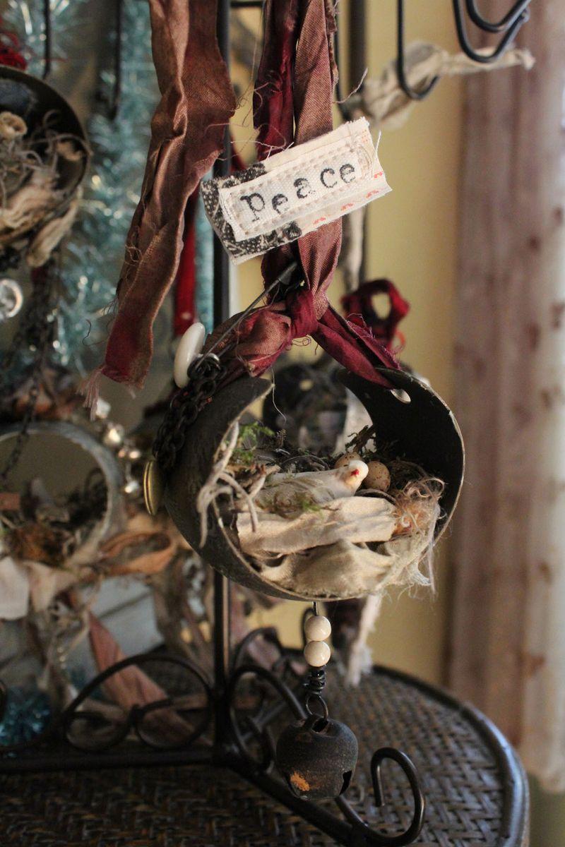 Peace dove ornament full view