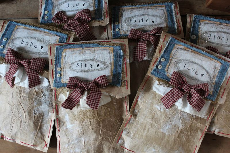Gift wrapping of ornies 2012