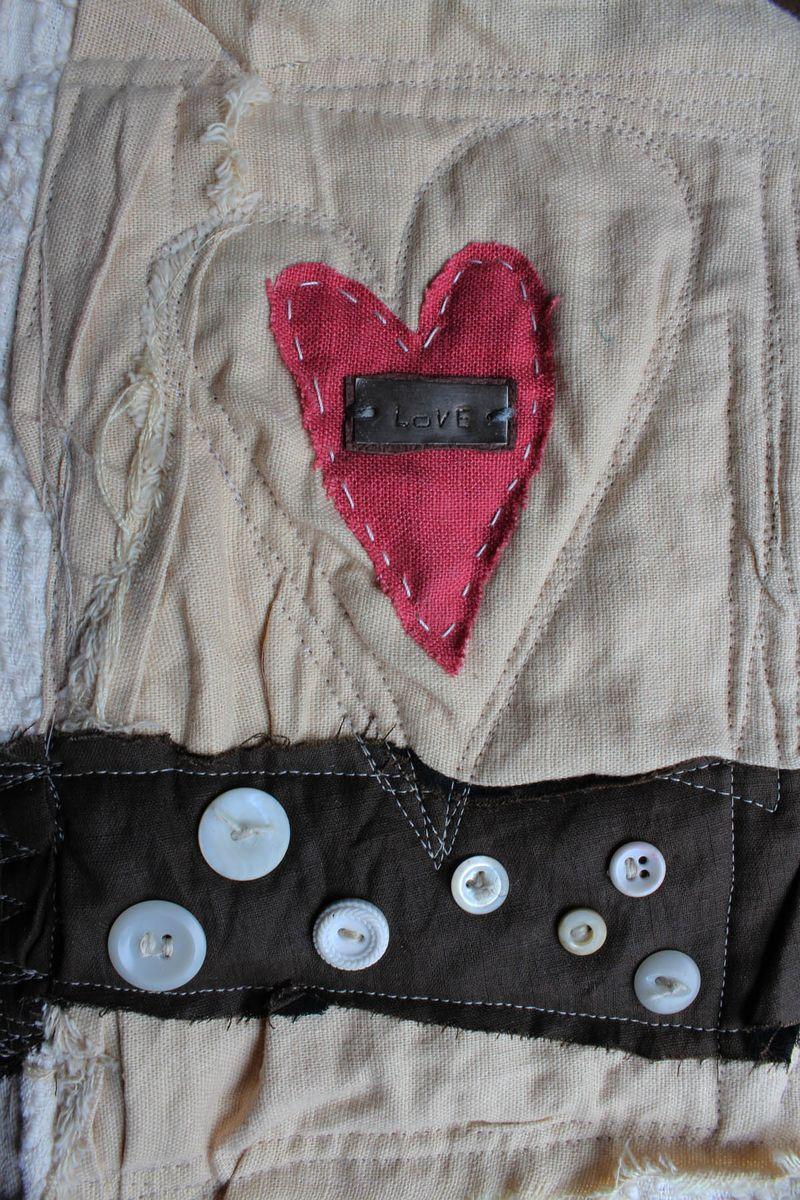 Love handmade book close up