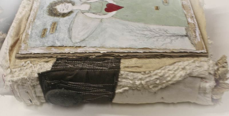 Cherish fabric book spine