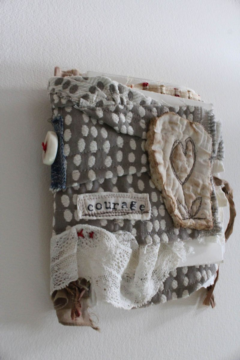 Spine of the courage fabric book