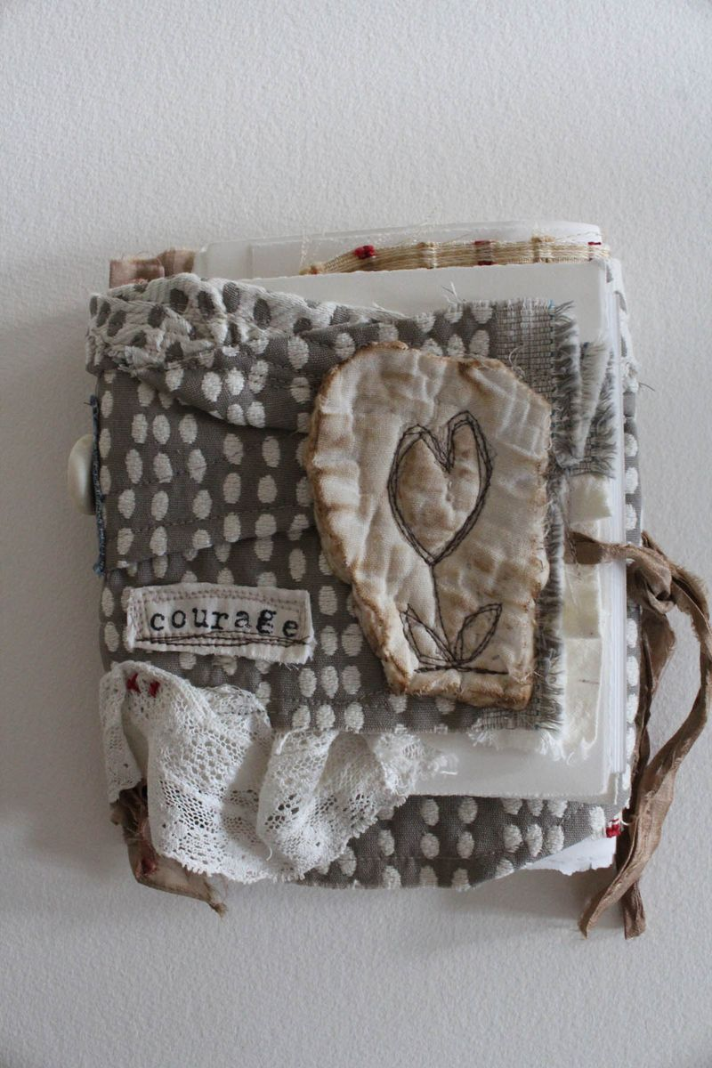 Courage fabric book cover