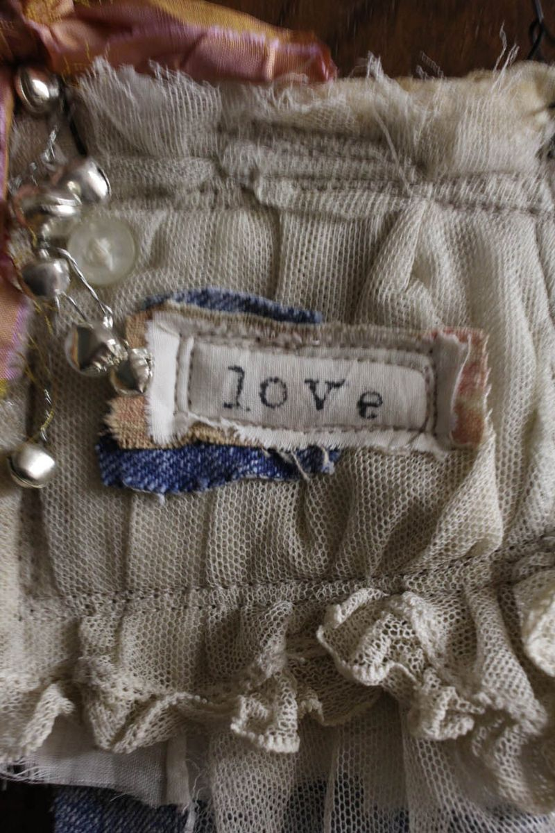 Love fabric ornament 2014