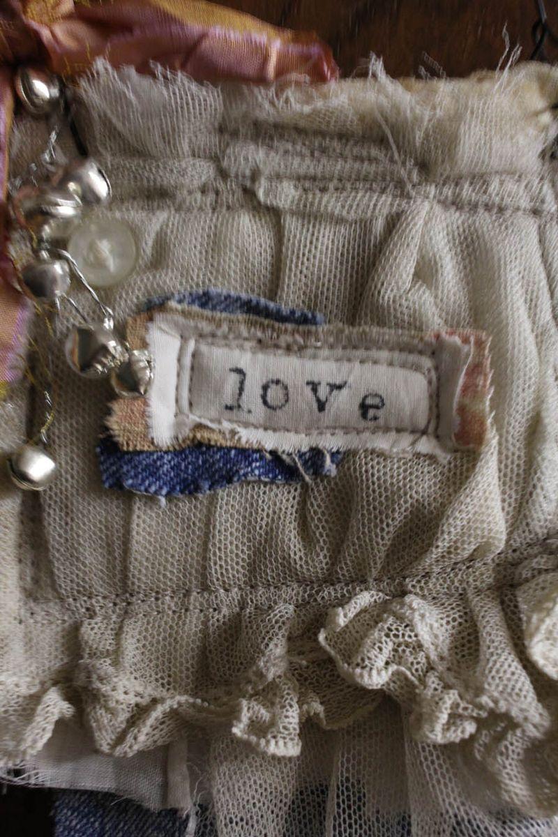 Love fabric ornament 2014