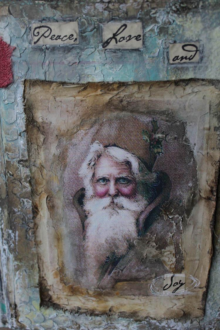 Santa Joy book close up