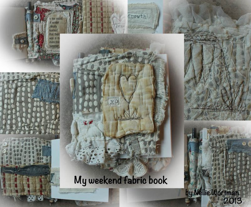My weekend fabric book photos