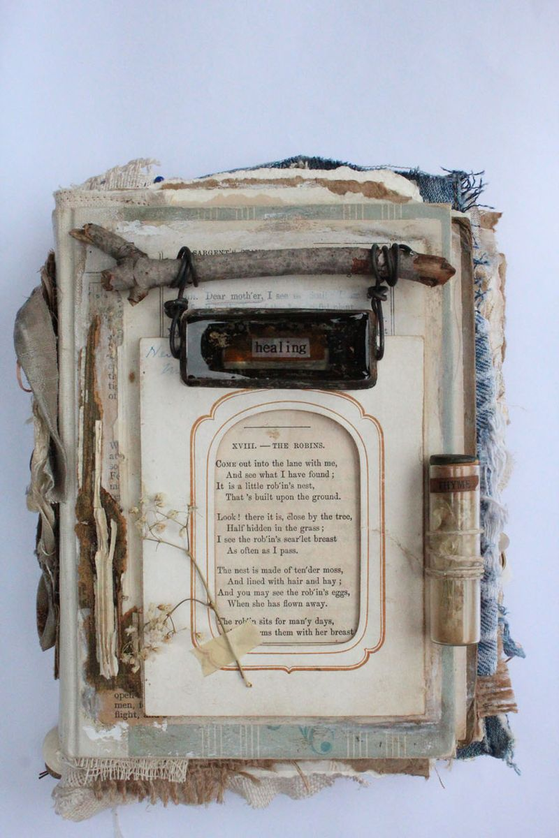 Pieces…altered books AIY class