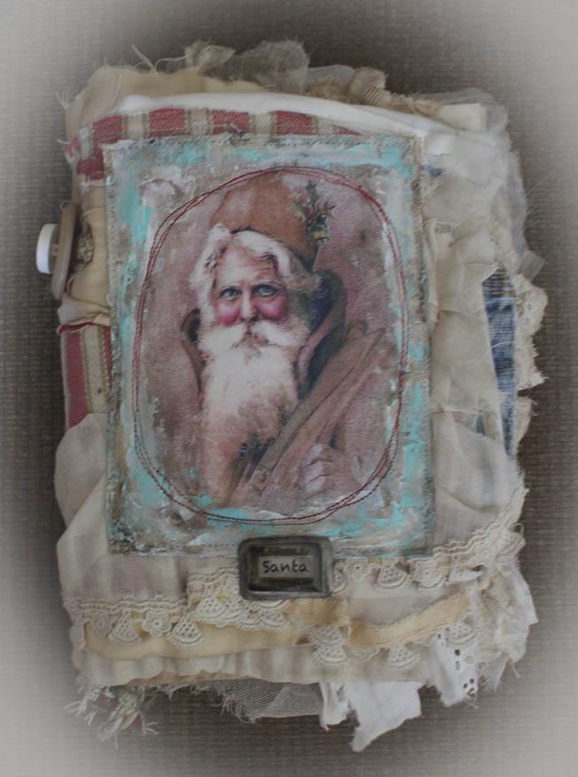 Santa fabric book