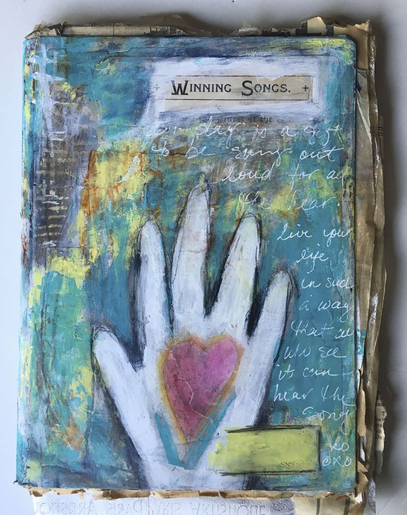 Hand print journal
