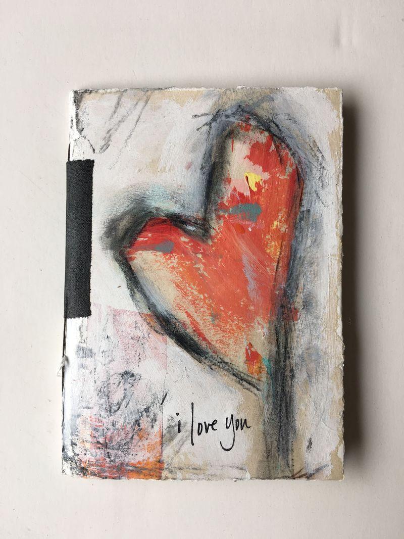 I love you blank journal