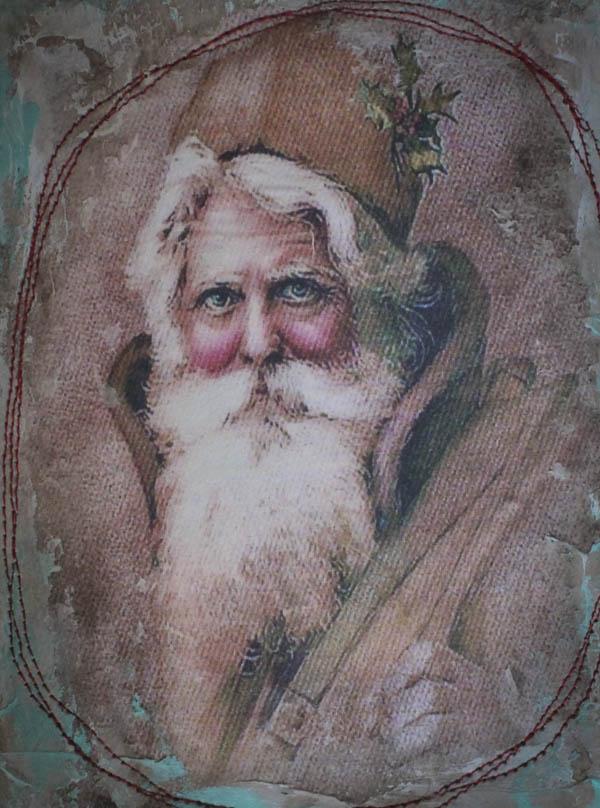 Santa book close up