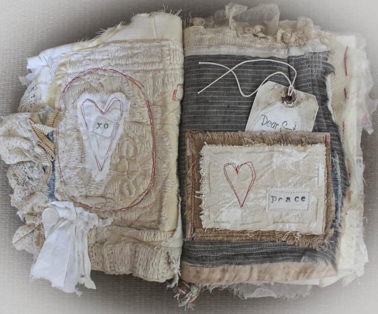 Santa fabric book pg1