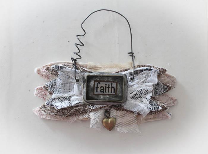 Faith wing ornament