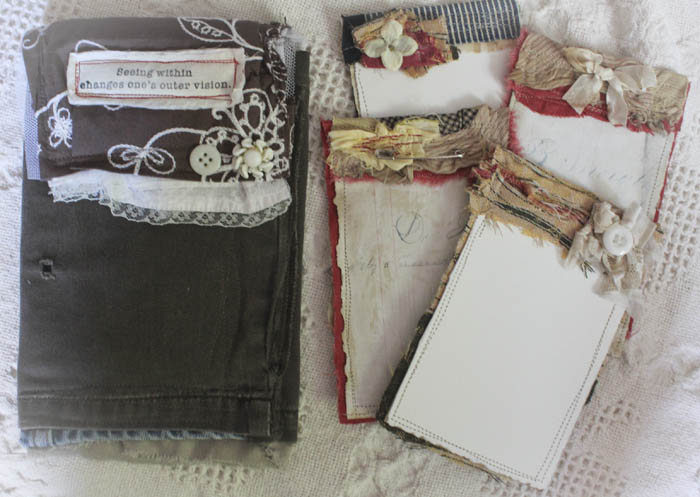 Seeing within fabric pouch w cards