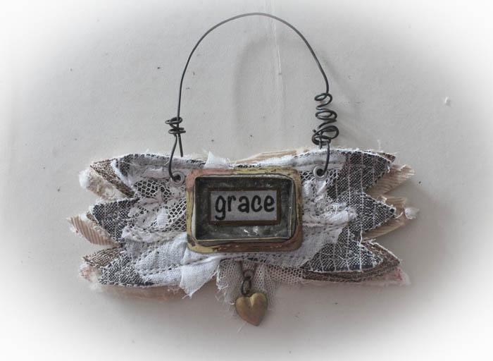 Grace wing ornament