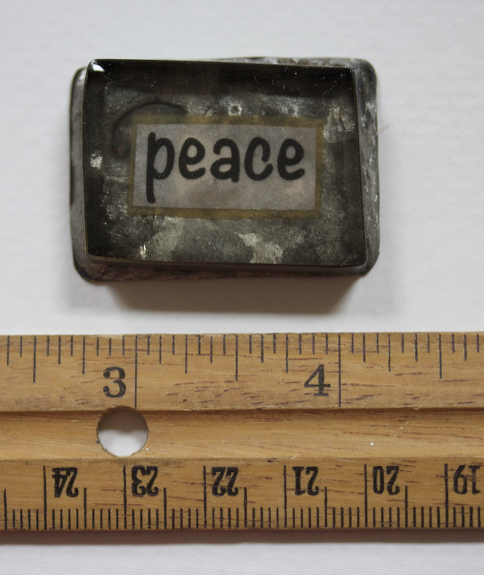 Peace 2 handmade bezel