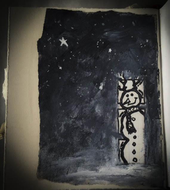 Santa book pg 7 snowman 2015